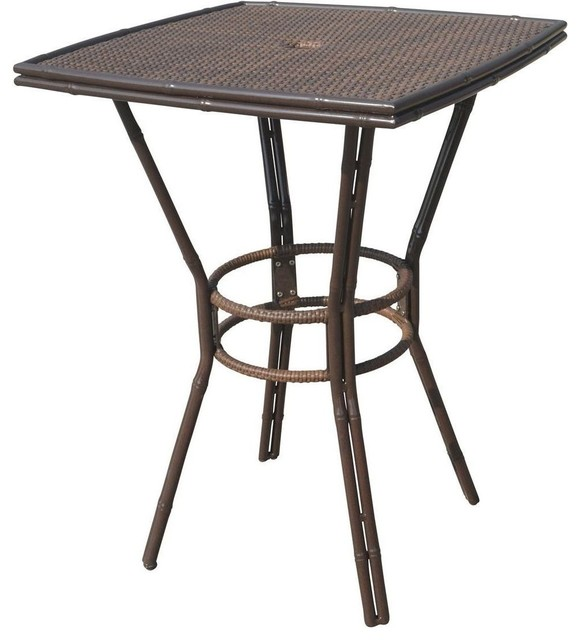 Panama Jack Rum Cay 32 Square Pub Table Antique Tropical Outdoor And Bistro Tables By Quality Furniture S