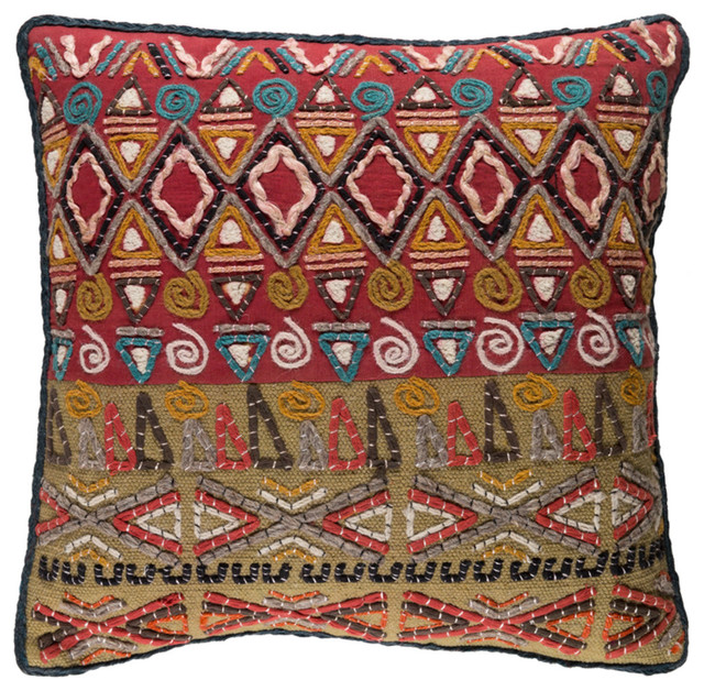 """Tera Global Poly Filled Accent Pillow Rust 18""""x18""""x4"""""""