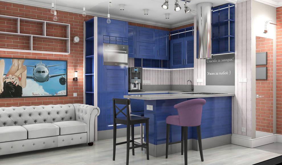 Квартира в американском стиле: кухня-гостиная