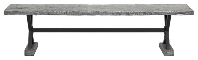 Lavelle Gray Magnesium Oxide Dining Table.