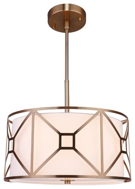 Regan 3-Light Pendant, Vintage Brass,  17.