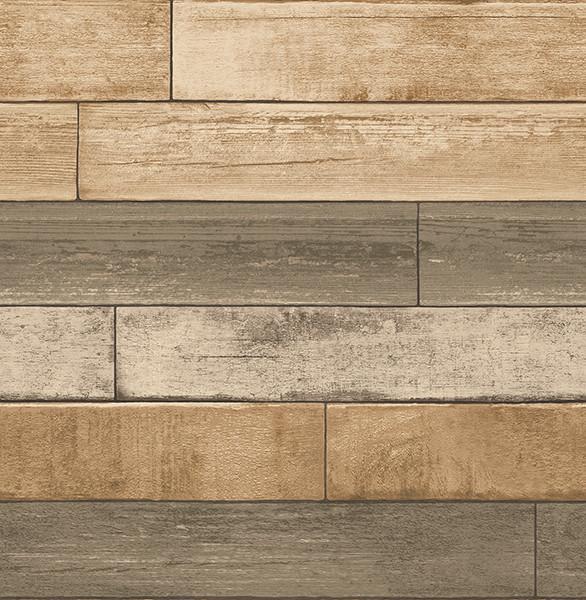 Weathered Plank Wheat Wood Texture Wallpaper Farmhouse