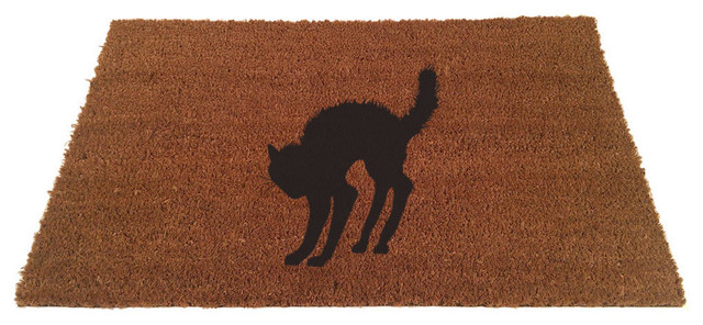 Black Cat Doormat 18 x30  contemporary-doormats  sc 1 st  Houzz & Black Cat Doormat - Contemporary - Doormats - by UncommonDoormats pezcame.com