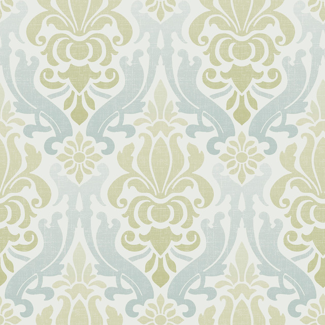 Modern Damask Peel And Stick Wallpaper Contemporary