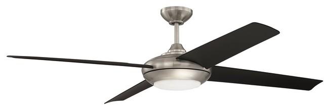 Craftmade 60 Moderne Ceiling Fan, Brushed Polished Nickel.