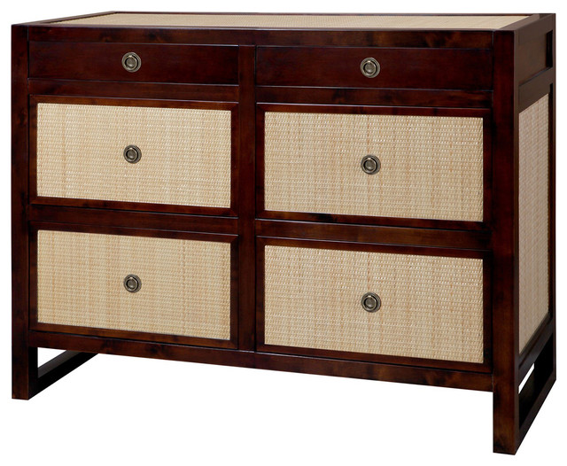 Bungalow 5 Mallet 6 Drawer In Walnut Contemporary Dressers