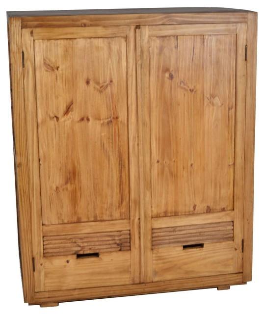 Miamöbel mexico 2 door cubic cabinet rustic wardrobes and armoires by