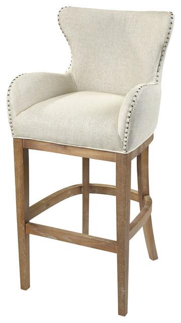 Sterling Roxie Cream Linen Bar Chair by ELK Group International