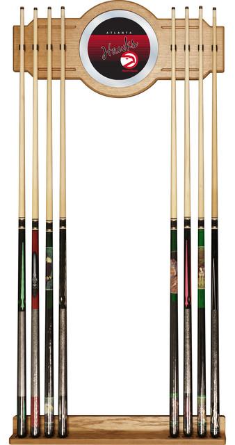 Nba Hardwood Classics Billiard Cue Rack With Mirror Traditional