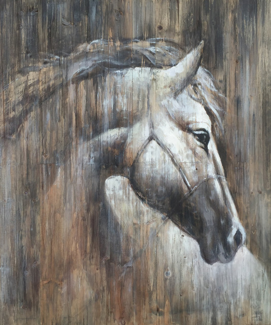 Wall Decor Painting Texas Horse I Farmhouse Paintings By International Image Canvas