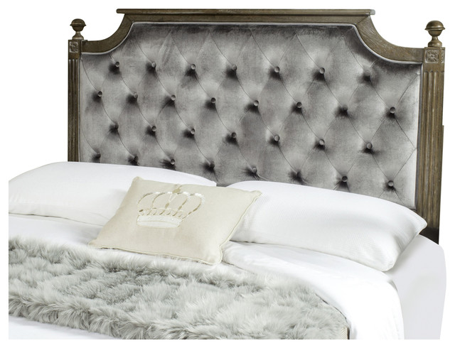 Rustic Headboard, Gray, Queen.