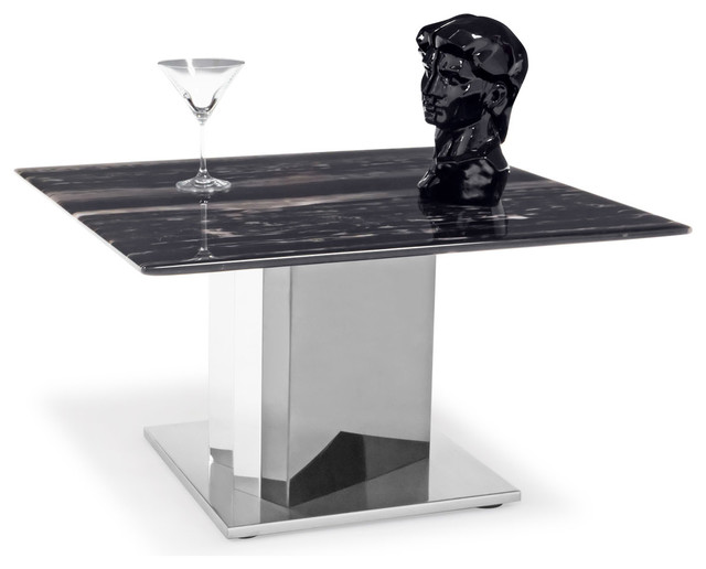 Nero Black and White Marble End Table With Polished  : contemporary side tables and end tables from www.houzz.com size 640 x 516 jpeg 37kB