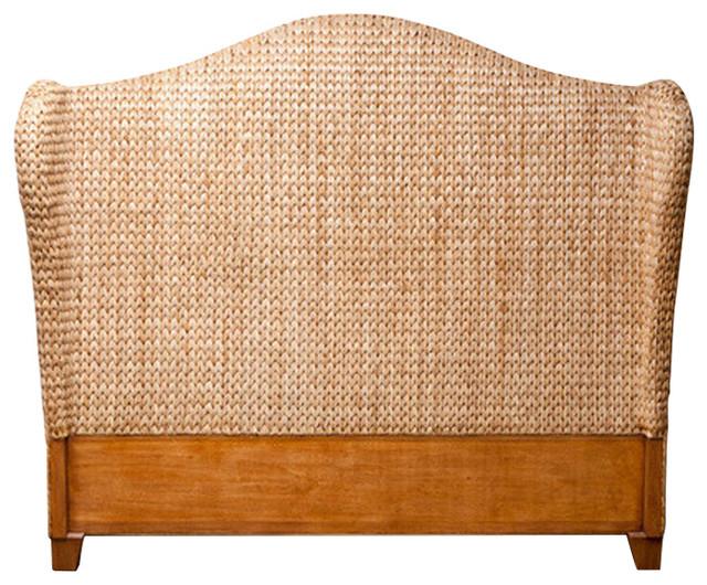 Briana Seagrass Headboard Beach Style Headboards By Global Home