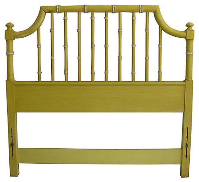 Consigned   Vintage Thomasville Faux Bamboo Headboard, Twin  Traditional Headboards