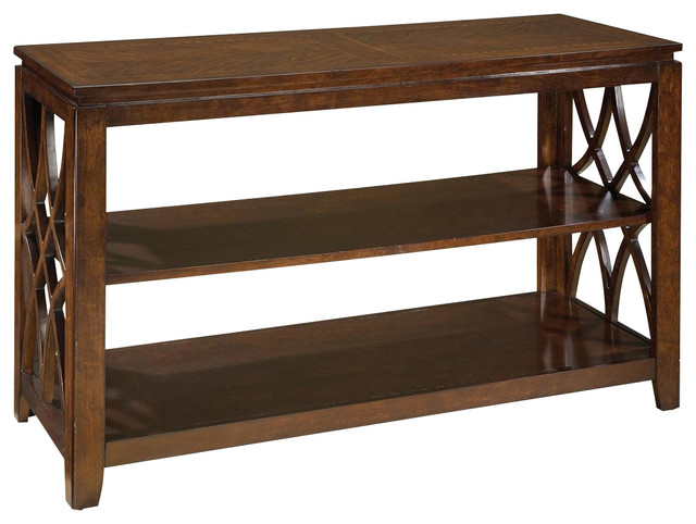 Beau Standard Furniture Woodmont 48 Inch Sofa Table In Brown Cherry