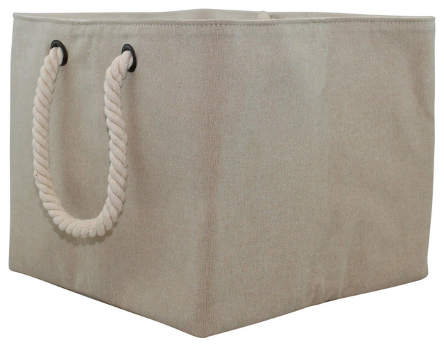 Jute Storage With Rope Handle, Small.