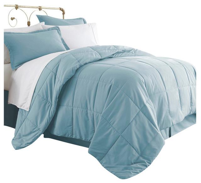 Becky Cameron 8 Piece Bed In A Bag Aqua California King