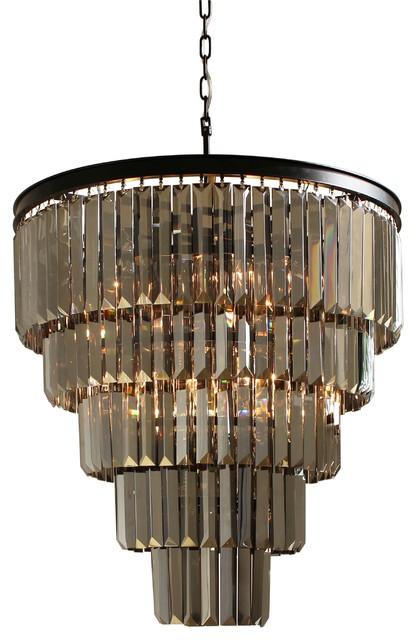 Dangelo 5 tier glass prism chandelier modern chandeliers by dangelo 5 tier glass prism chandelier aloadofball Gallery