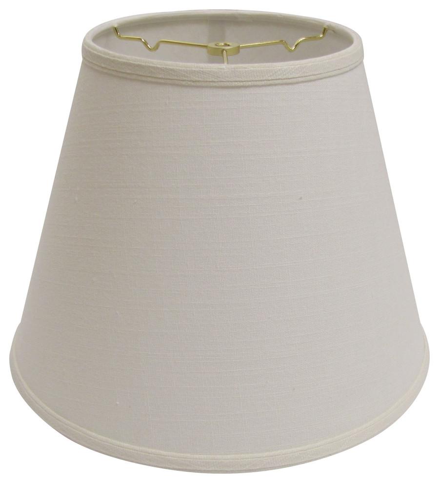 White Slant Empire Hardback Lampshade with Uno Fitter