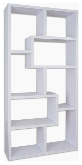 Rhea Modern Bookcase, White contemporary-bookcases