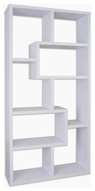 Genial Rhea Modern Bookcase, White