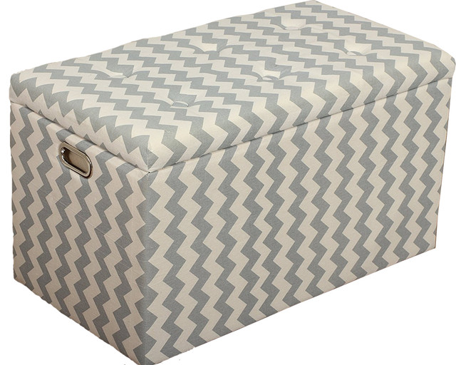 Brilliant 5 Piece Cloth Storage Ottoman Stools 3 Ottomans And 2 Stools Gray White Zigzag Ocoug Best Dining Table And Chair Ideas Images Ocougorg
