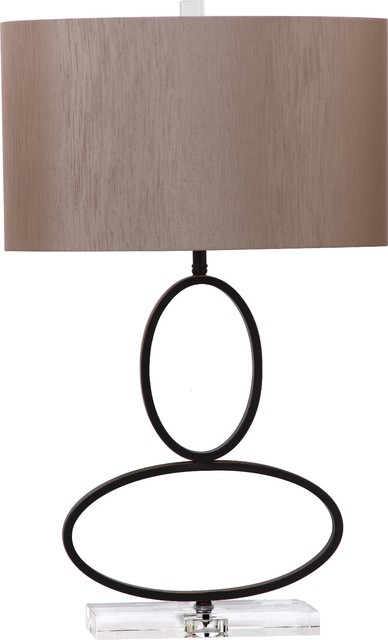 28 Metal Rings With Crystal Base Table Lamp Transitional Table