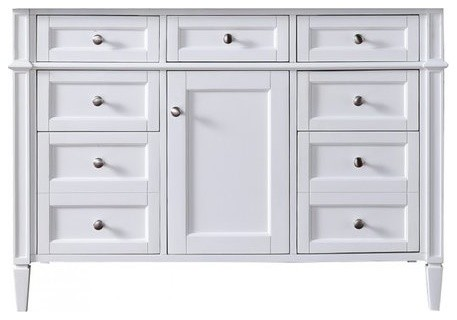 "48"" Brittany Single Cabinet Only Without Top, Cottage White."