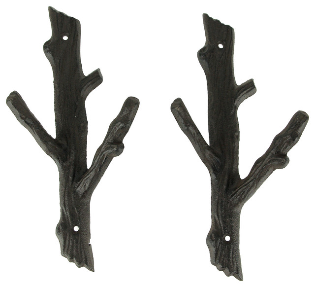 6 Double Branch Wall Hook Rustic Hangers for your home!