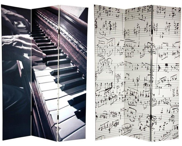 tall double sided music canvas room divider