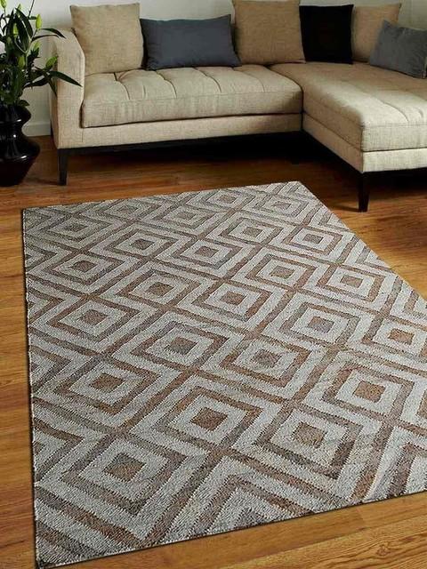 Rugsotic Carpets Jute 8&x27;x10&x27; Eco-Friendly Natural.