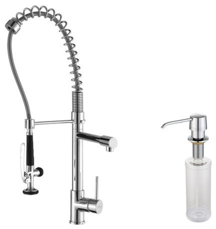 Single Handle Pull Down Faucet Pre Rinse And Soap