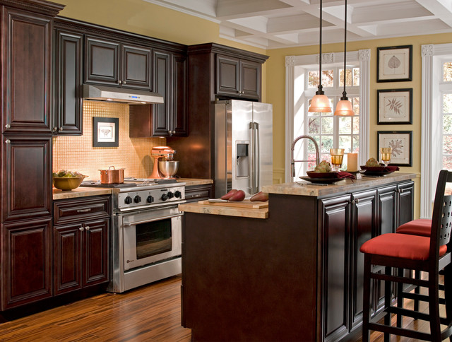 Findley & Myers Palm Beach Dark Chocolate Kitchen Cabinets - Other ...
