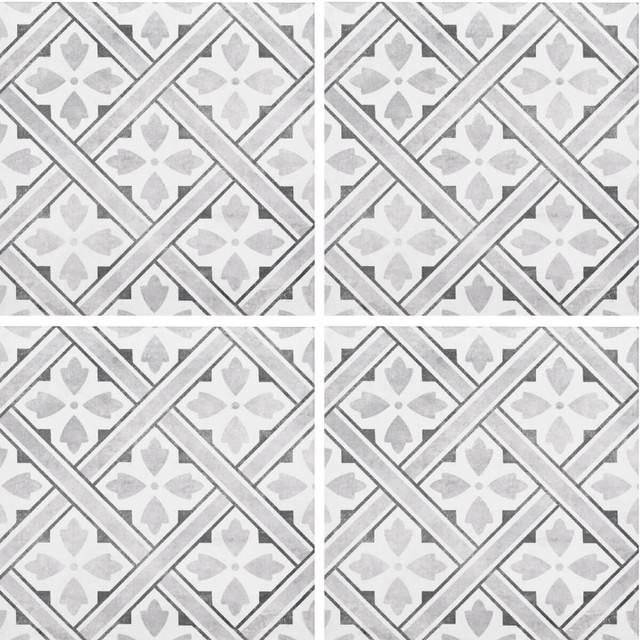 Mr Jones Floor Tiles, Charcoal, Set of 20 m²