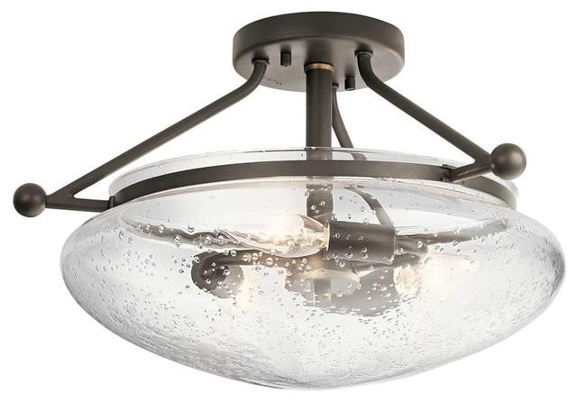 Kichler 42593oz Belle Semi Flush Light, Olde Bronze.