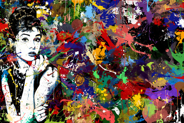 Maxwell Dickson Audrey Hepburn Pop Art Modern Canvas Print Prints And Posters By