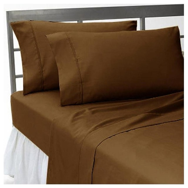 1000tc solid chocolate sheet set in king size 100 egyptian cotton - 100 Egyptian Cotton Sheets