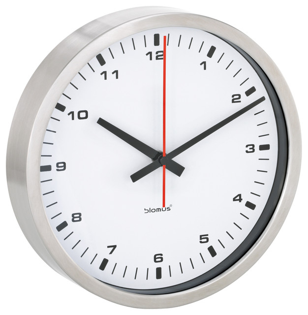 Blomus Era White Wall Clock Small Contemporary Clocks