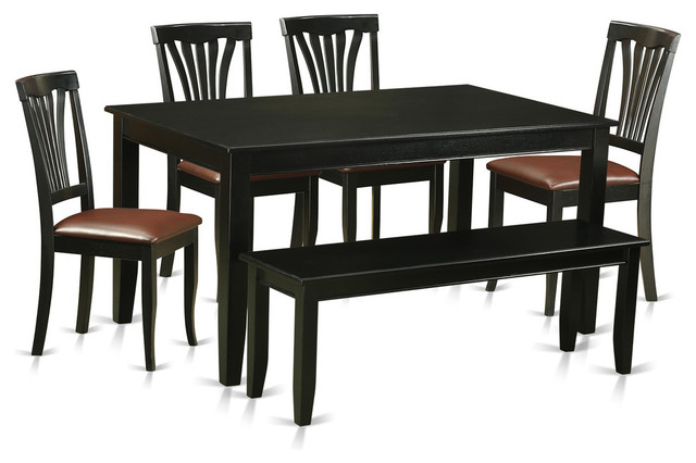 dining table set black transitional dining sets by dinette4less