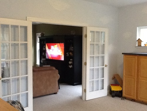 Playroom To Study 3 Small Windows French Doors Cut Out