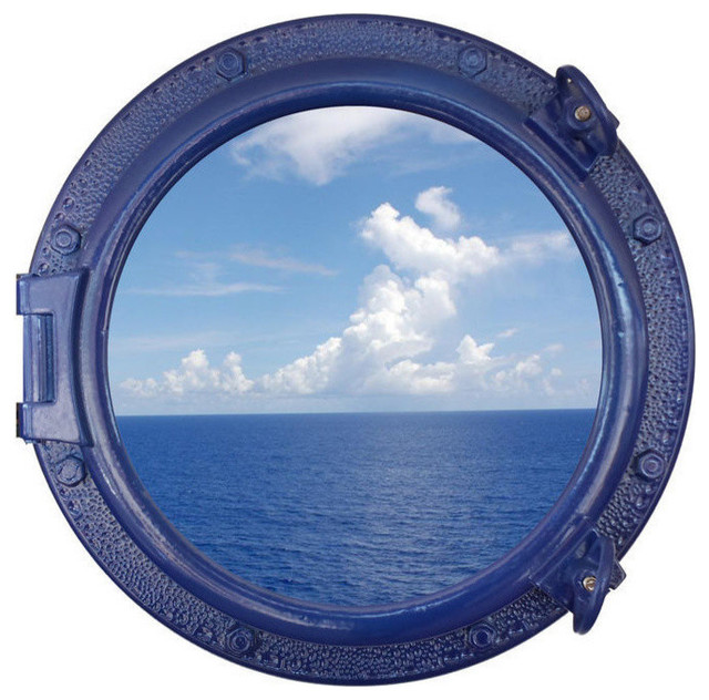 Decorative Ship Porthole Window Navy Blue 20