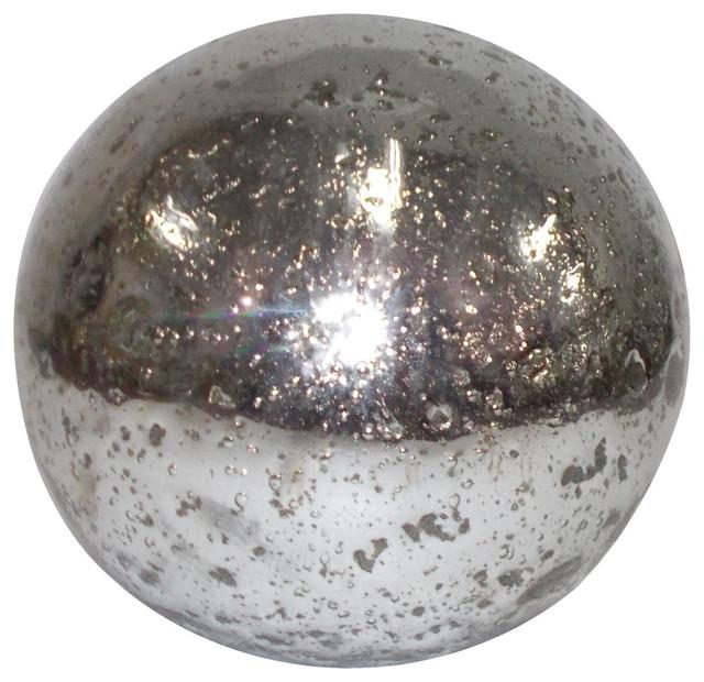 Mercury Glass Decorative Balls Classy A&b Home  Metallicsilver Mercury Glass Sphere Ball  View In Decorating Design