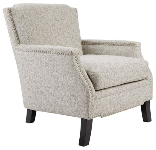 Madison Park Jacques Wood Chair, Gray.