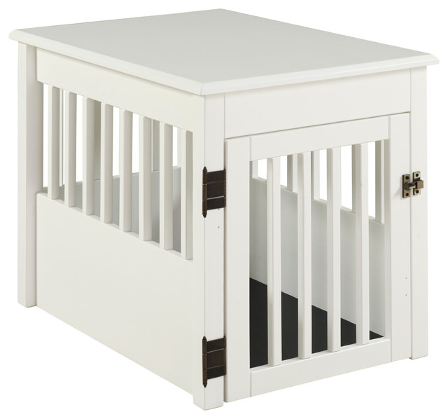 Ruffluv Pet Crate End Table Contemporary Dog Kennels And