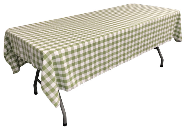 Merveilleux LA Linen Rectangular Gingham Checkered Tablecloth, Apple, ...
