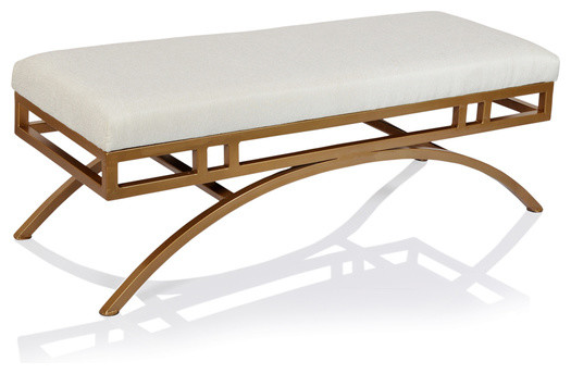 Boston Ottoman/bench Natural Blend Anti-Gold.