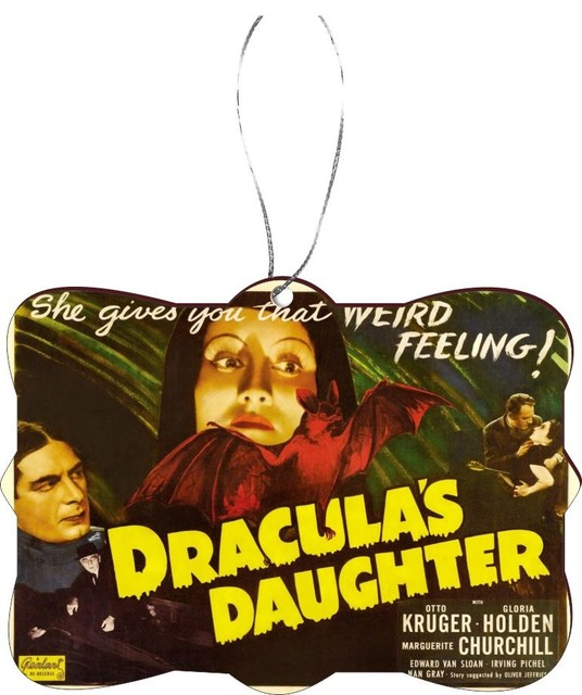 Vintage Movie Posters Dracula's Daughter Rectangle  Christmas Tree Ornament