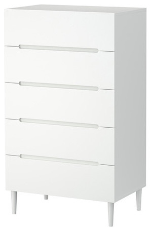Sveio Chest With 5 Drawers White