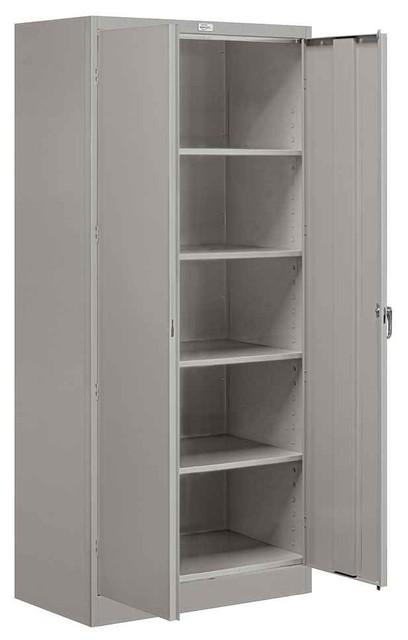 36 In. Standard Storage Cabinet In Gray Finish.
