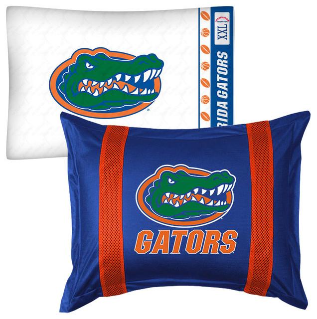 Florida Gators Pillow Sham Pillowcase College Logo Bedding